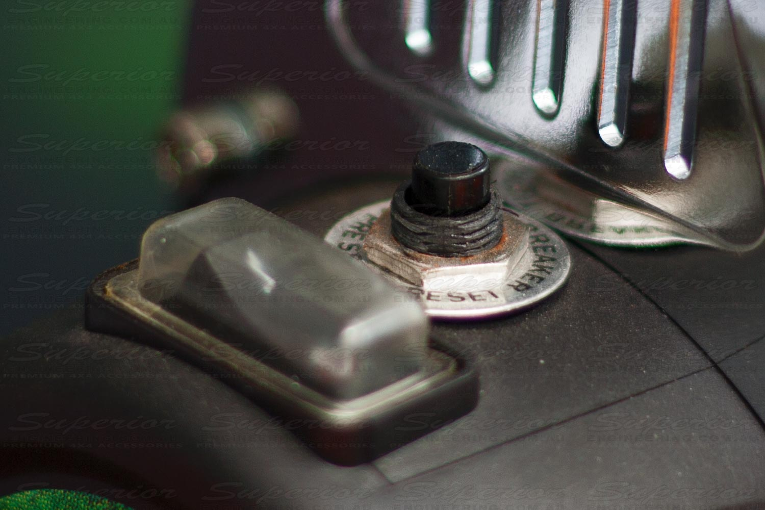 On / Off switch and reset button