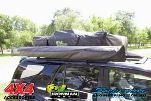 Rooftop Tent mounts directly to most 4x4 roof bars and racks