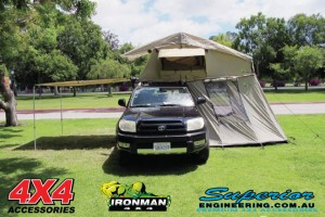 Ironman 4x4 Rooftop Tent fully setup