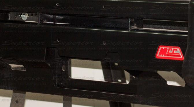 The Falcon MCC bull bar design incorporates T Hi-Lift Jack points