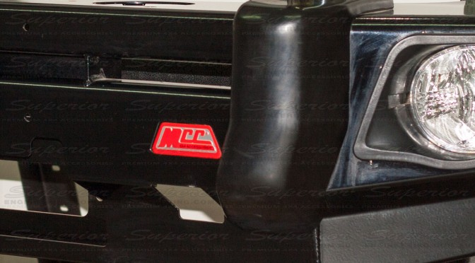 The MCC 4x4 Logo on the Falcon bull bar guarantees high quality