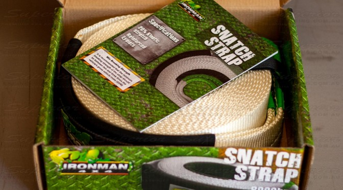 Instruction manual for the Ironman snatch strap in the top of the box after opening