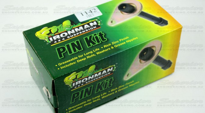 A brand new Ironman 4x4 Greaseable Fixed Pin Kit still in the original box