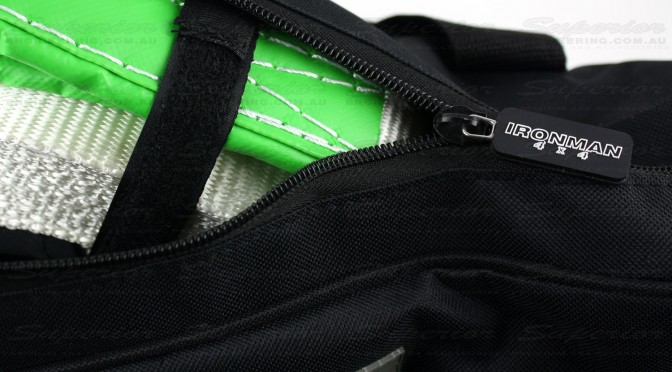 The kit bag comes with strong webbing and a reinforced zipper