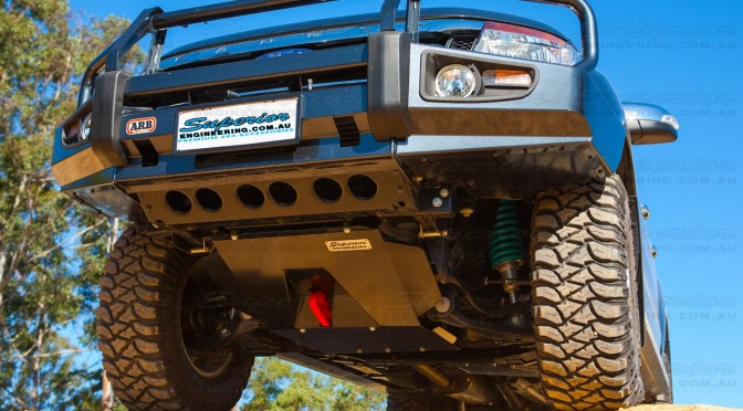 Front underside view of the Ford Ranger Bash Plate and Recovery Point