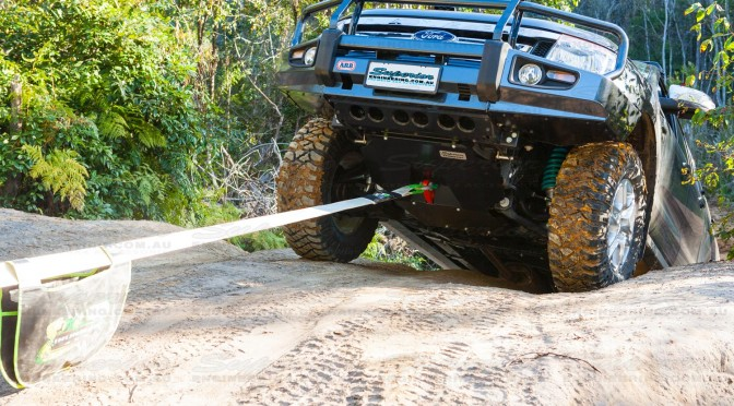 Putting the Ford Ranger Bash Plate and Recovery Point to the test with a full vehicle recovery on a local bush track