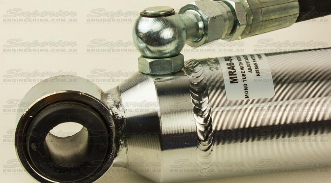 Heavy duty shock eye mounts and superior hose fittings complete this all-round performance shock