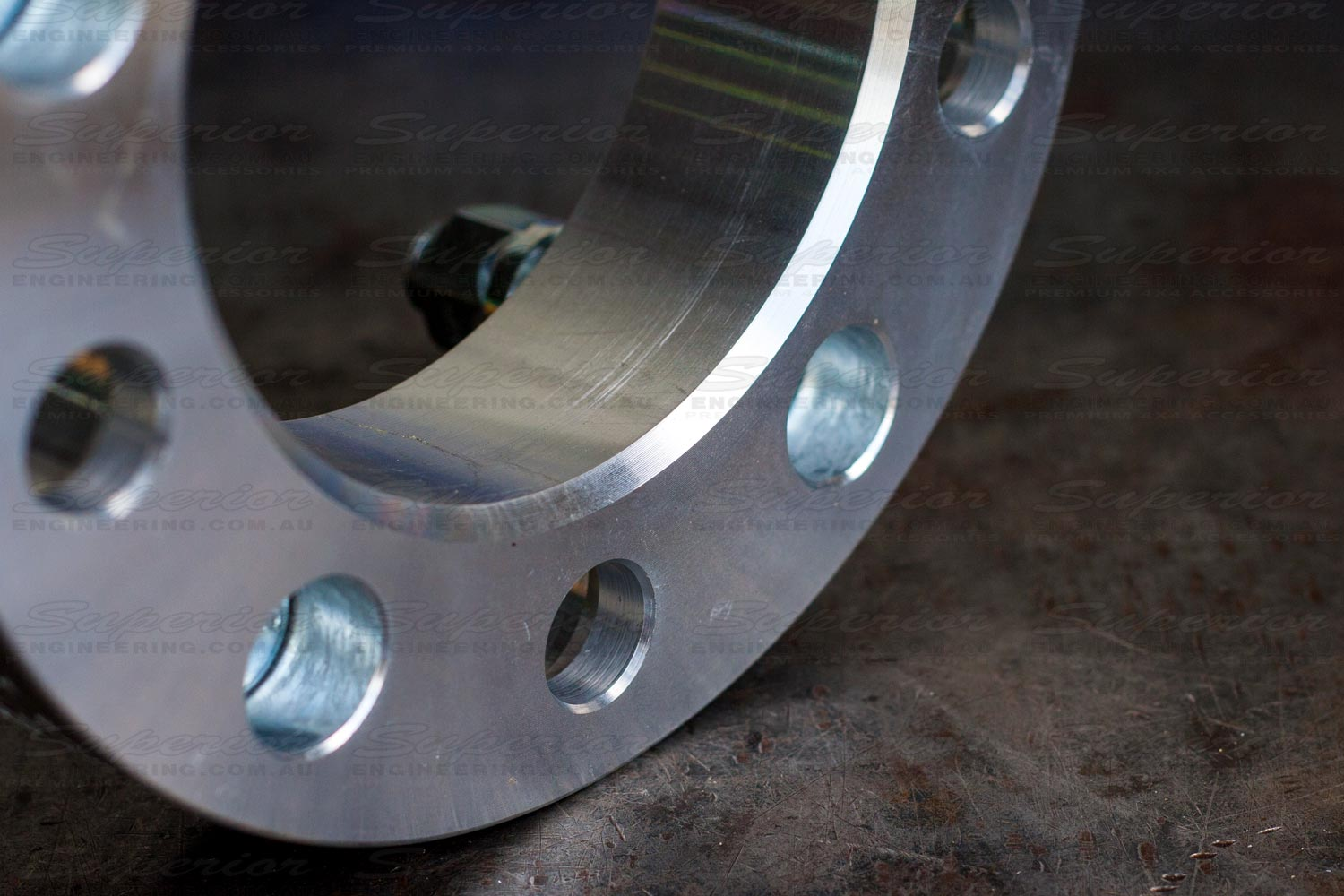 Rear view of the Superior wheel spacer
