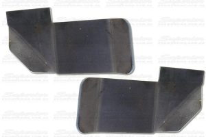A pair of heavy duty 3mm tie rod skid plates to suit the Nissan Navara D22 4WD