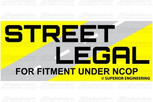 These adjusters are 100% Street Legal and Compliant for fitment under NCOP