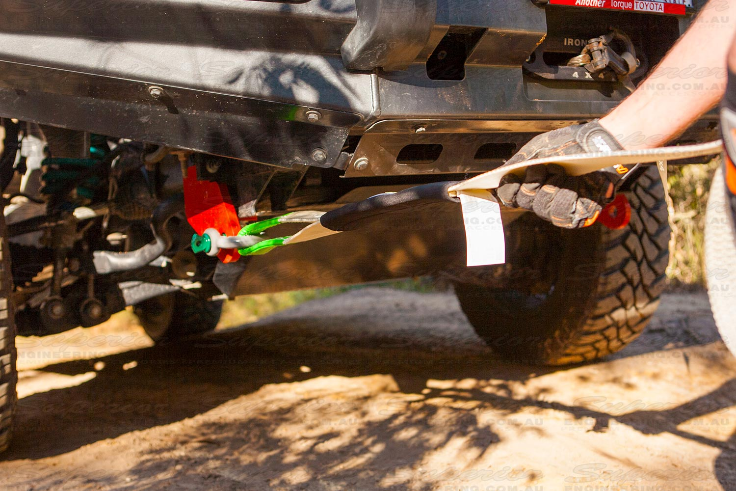 Performing a recovery on the 200 Series Landcruiser using the Superior rated recovery point