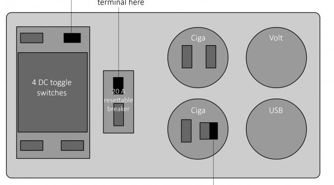 Wiring Diagram for the Baintech DC Distribution Panel